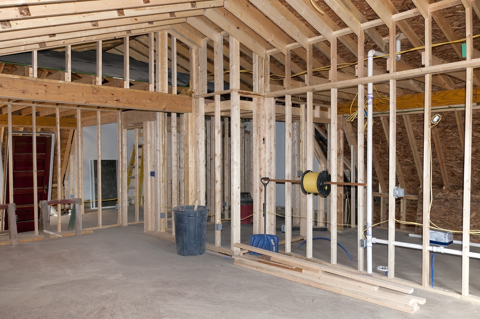 Framing in Whole House Remodel Valley Forge Mountain